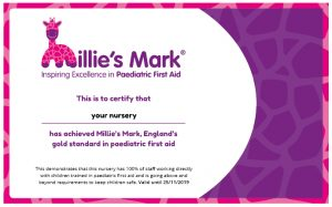 Millie's Mark certificate